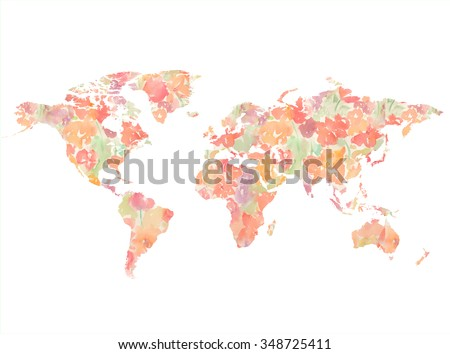 Royalty free stock illustration of artistic watercolor world map art artistic watercolor world map art gumiabroncs Image collections