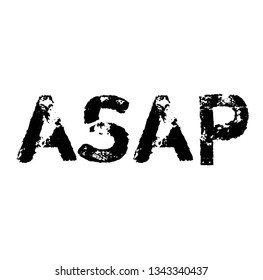 asap stamp on white background. Sign label sticker.