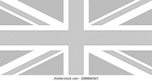 ASCII art national flag of the United Kingdom (UK) aka Union Jack
