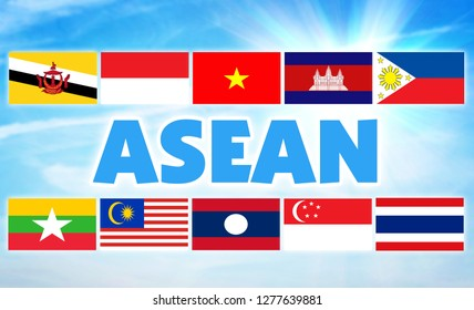 ASEAN, Association of Southeast Asian Nations. International economic union of some countries of Southeast Asian region