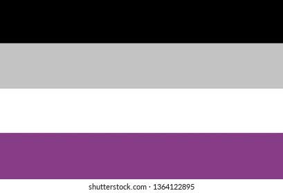 Asexual flag. Sign and symbol concept.