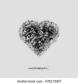 Ash dark heart. Broken relations. Dead Love.