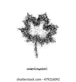 Ash Dark maple leaf symbol silhouette grey