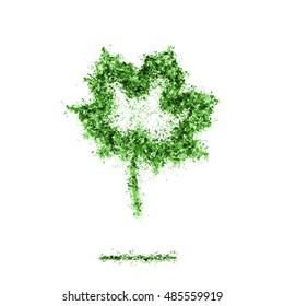 Ash Dark maple leaf symbol silhouette green