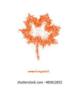 Ash Dark maple leaf symbol silhouette orange