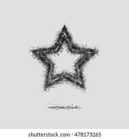 Ash Dark star bookmark symbol silhouette grey.