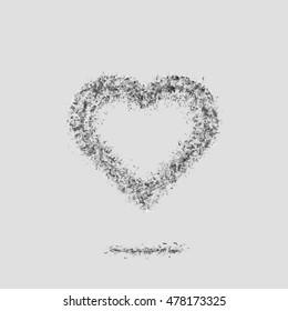 Ash light heart. Broken relations. Dead Love.