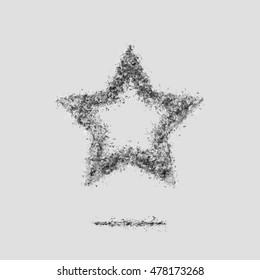 Ash light star bookmark symbol silhouette grey
