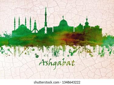 Ashgabat Turkmenistan skyline