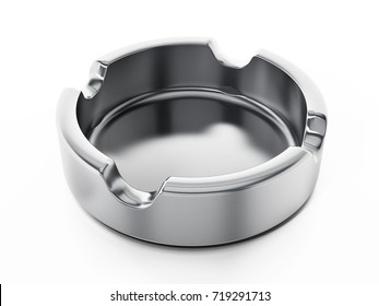 Ashtray isolated on white background. 3D illustration.