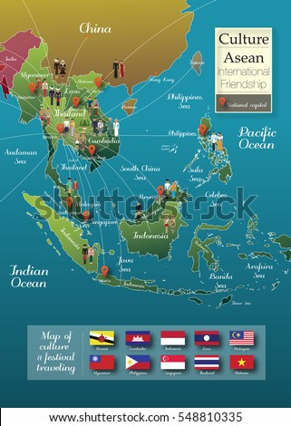 Asia Icon Map Info Graphic Thailand Stock Illustration 548810335 ...