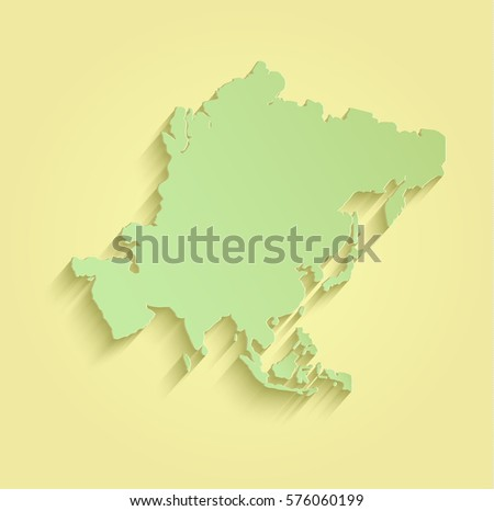 Royalty Free Stock Illustration of Asia Map Yellow Green Raster ...