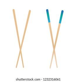 Asian eating sticks. Bamboo chinese food chopstick