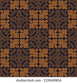 Asian look square geometric seamless pattern, abstract colorful background, texture.