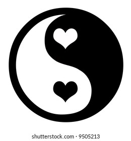 Ying Yang Heart Images Stock Photos Vectors Shutterstock