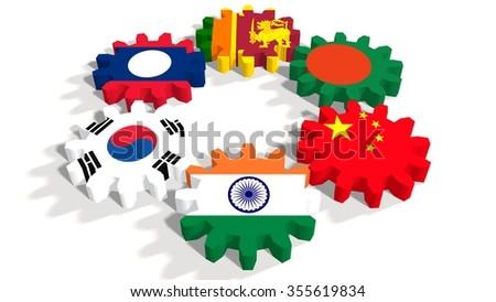 Asia Pacific Trade Agreement Politic Economic Union Stock