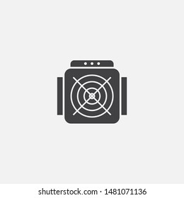 ASIC Miner icon. Simple element illustration. ASIC Miner symbol design from Cryptocurrency collection. Can be used in web and mobile.