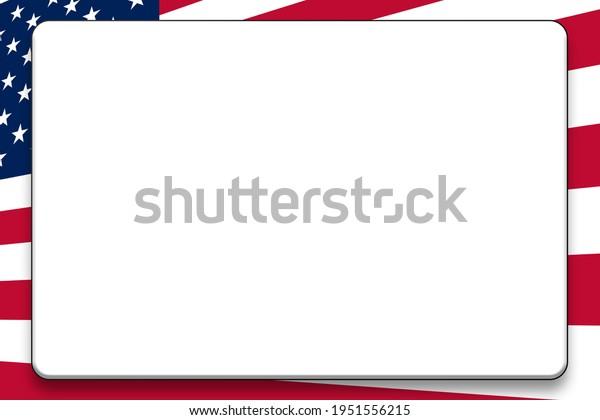 askew gradient american flag background illustration for slide card presentation graphic