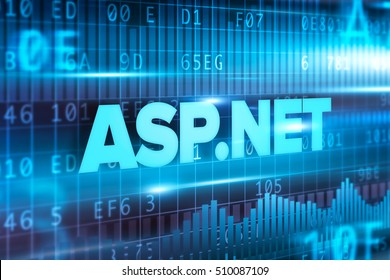 ASP.NET abstract concept blue text blue background