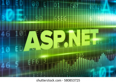 ASP.NET abstract concept blue text greem background