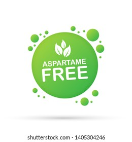 Aspartame free grunge on white background, stock illustration