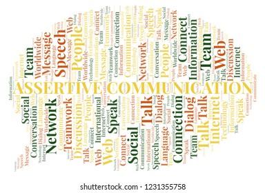 Assertive Communication word cloud.