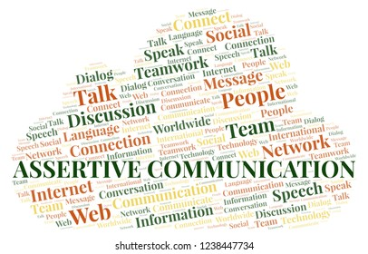 Assertive Communication word cloud.
