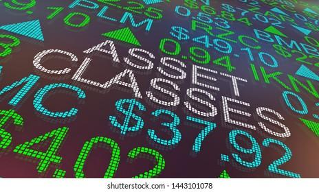 Asset Classes Stock Market Business Industry Categories 3d Illustration