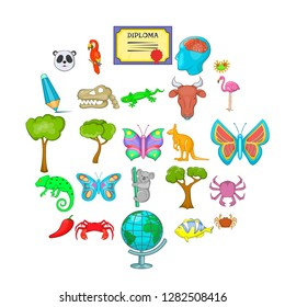 Assimilation icons set. Cartoon set of 25 assimilation icons for web isolated on white background
