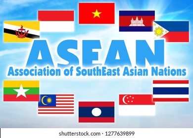 Association of Southeast Asian Nations, ASEAN. International economic organization of countries of Southeast Asian region
