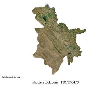 As-Sulaymaniyah, Iraq Map (3D illustration)