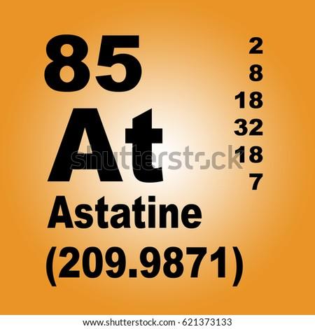 Astatine Periodic Table Elements Stock Illustration 621373133