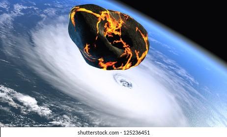 Asteroid flying toward Earth