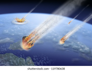 asteroids strike Earth