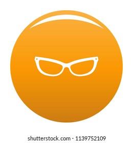 Astigmatic eyeglasses icon. Simple illustration of astigmatic eyeglasses icon for any design orange