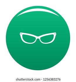 Astigmatic eyeglasses icon. Simple illustration of astigmatic eyeglasses icon for any design green