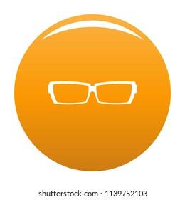 Astigmatic glasses icon. Simple illustration of astigmatic glasses icon for any design orange