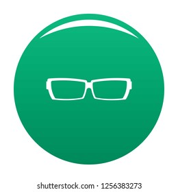 Astigmatic glasses icon. Simple illustration of astigmatic glasses icon for any design green