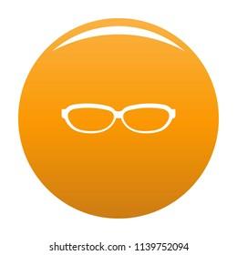 Astigmatic spectacles icon. Simple illustration of astigmatic spectacles icon for any design orange