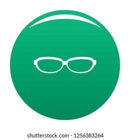 Astigmatic spectacles icon. Simple illustration of astigmatic spectacles icon for any design green