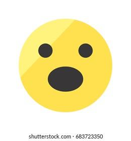 Astonished smiley icon. Emoji smiley.