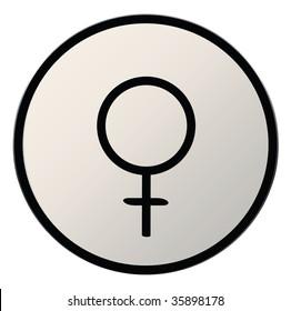 astrological symbol for planet venus, silver button