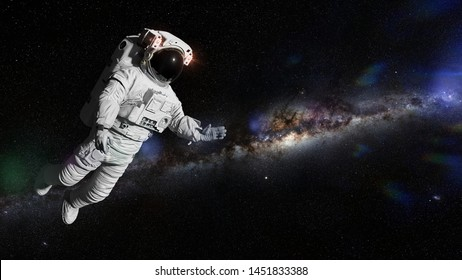 astronaut in deep space (3d illustration, elements of this image are furnished by NASA)