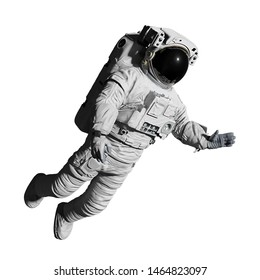 astronaut during space walk, isolated on white background (3d science illustration)