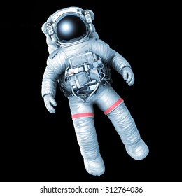 Astronaut on a black background, 3D rendering