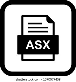 ASX File Document Icon In Trendy Style Isolated Background