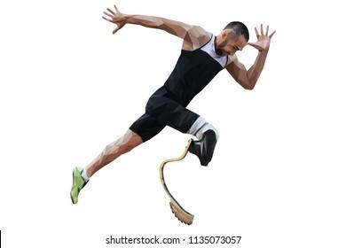 athlete disabled amputee runner prosthetic leg