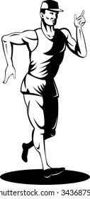 Athlete doing the walking race