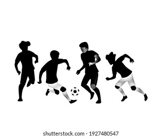 Athletes playing games with white background, digital illustration