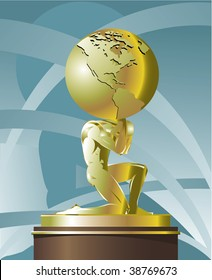 Atlas supporting the world. Vector version is available in portfolio.